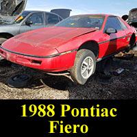 Junkyard 1988 Pontiac Fiero
