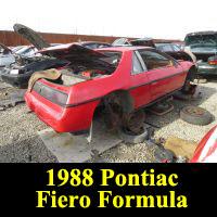 Junkyard 1988 Pontiac Fiero Formula