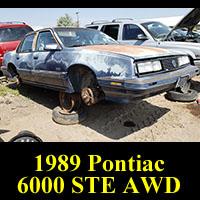 Junkyard 1989 Pontiac 6000 STE AWD