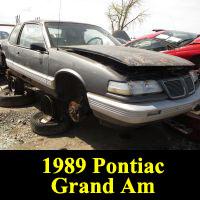 Junkyard 1989 Pontiac Grand Am