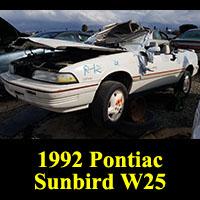 Junkyard 1992 Pontiac Sunbird convertible