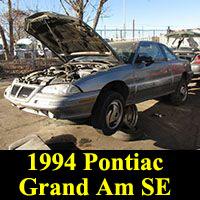 Junkyard 1994 Pontiac Grand Am SE