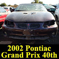 Junkyard 2002 Pontiac Grand Prix 40th Anniversary Edition