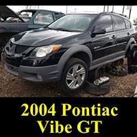 Junkyard 2004 Pontiac Vibe GT