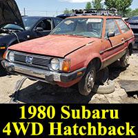 Junkyard 1980 Subaru 4WD hatchback