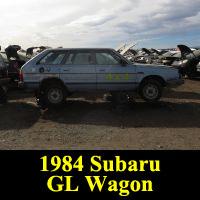 Junkyard 1984 Subaru GL Wagon