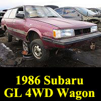 Junkyard 1986 Subaru GL 4WD Wagon