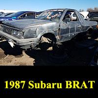 Junkyard 1987 Subaru BRAT