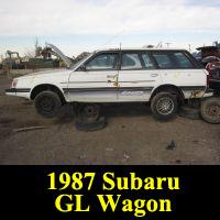 Junkyard 1987 Subaru GL Wagon