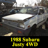 Junkyard 1988 Subaru Justy DL