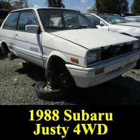 Junkyard 1988 Subaru Justy 4WD RS