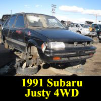 Junkyard 1991 Subaru Justy 4WD