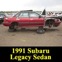 Junkyard 1991 Subaru Legacy L Sedan