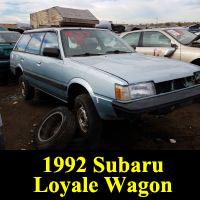Junkyard 1992 Subaru Loyale wagon