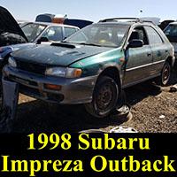Junkyard 1998 Subaru Impreza Outback Wagon