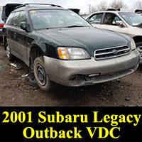 Junkyard 2001 Legacy Subaru Outback VDC