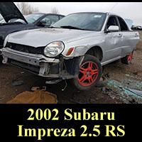 Junked 2002 Subaru Impreza