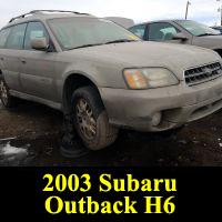 Junkyard 2003 Subaru Outback H6-3.0