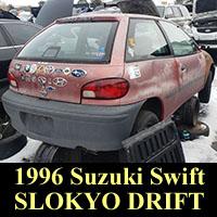 1996 Suzuki Swift in junkyard