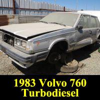 Junkyard 1983 Volvo 760 GLE Turbodiesel