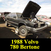 Junkyard 1988 Volvo 780 Bertone Coupe