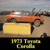 Junkyard 1973 Toyota Corolla Deluxe