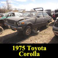 Junkyard 1975 Toyota Corolla