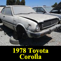 Junkyard 1978 Toyota Corolla