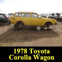 Junkyard 1978 Toyota Corolla wagon