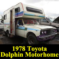 Junkyard 1978 Toyota Dolphin RV