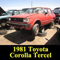 Junkyard 1981 Toyota Tercel