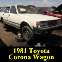 Junkyard 1981 Toyota Corona wagon