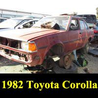 Junkyard 1982 Toyota Corolla