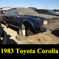 Junkyard 1983 Toyota Corolla