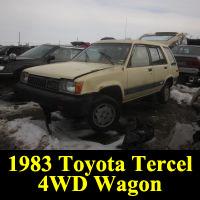 Junkyard 1983 Toyota Tercel 4WD Wagon