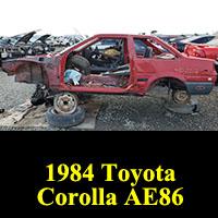Junkyard 1984 Toyota Corolla Sport SR5