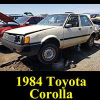 1984 Toyota Corolla in junkyard