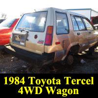 Junkyard 1984 Toyota Tercel 4WD wagon