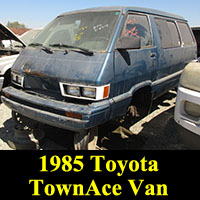 Junkyard 1985 Toyota Van