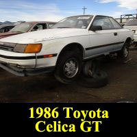 Junkyard 1986 Toyota Celica GT Coupe