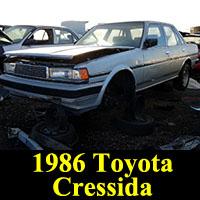Junkyard 1986 Toyota Cressida