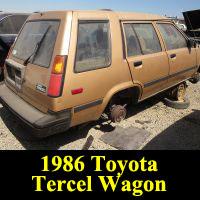Junkyard 1986 Toyota Tercel Wagon