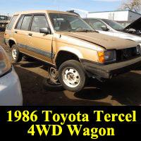 Junkyard 1986 Toyota Tercel 4WD Wagon