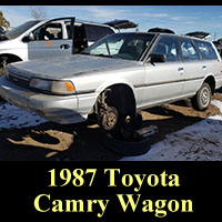 Junkyard 1987 Toyota Camry wagon