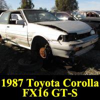 Junkyard 1987 Toyota Corolla FX16 GT-S