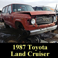 Junkyed 1987 Toyota Land Cruiser
