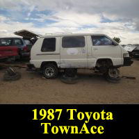 Junkyard 1987 Toyota Van
