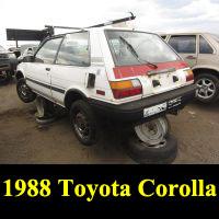 Junkyard 1988 Toyota Corolla