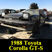 Junkyard 1988 Toyota Corolla GT-S