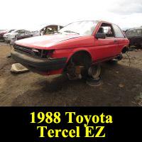 Junkyard 1988 Toyota Tercel EZ